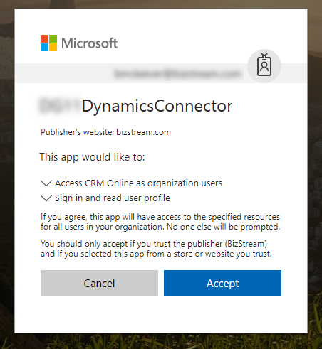 Setup Tenant Admin Consent for Connector User in Dynamics